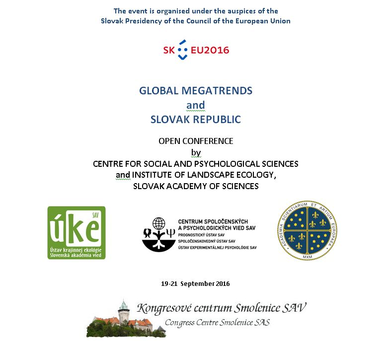 Open Conference - Global Megatrends and Slovak Republic